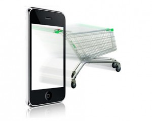iphone and shopping trolley